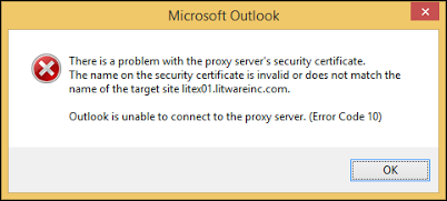 Proxy server certificate issue