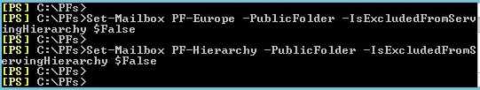 set mailbox pf-europe - public folder migration