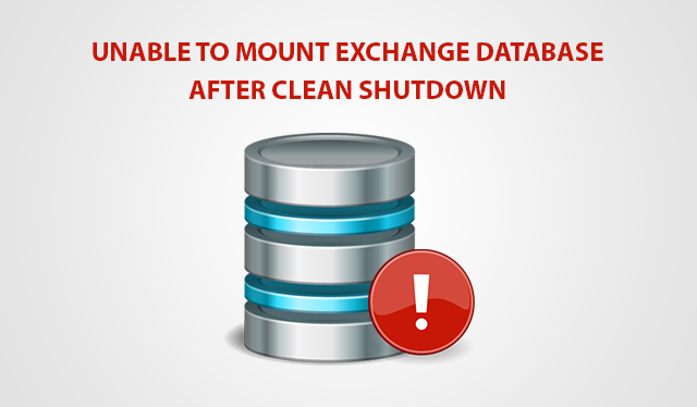 exchange database won't mount