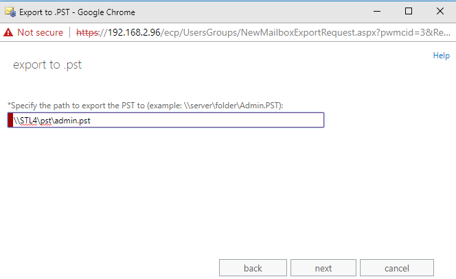 Export Recoverable Items to PST