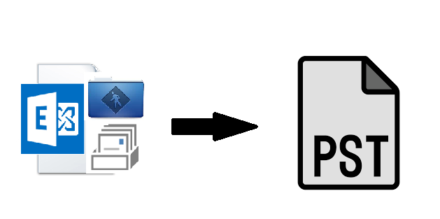 extract public folder and private mailbox from edb to pst